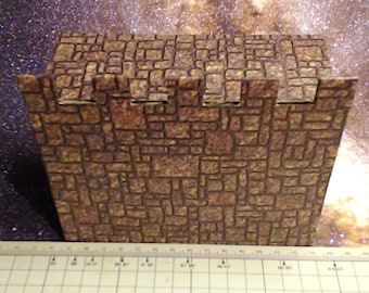 Terrain Building Set of 4 wall sections for Dungeons and Dragons and Warhammer and Tabletop Games