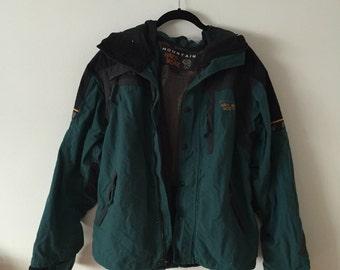 Mountain Hardwear Teal Rain Jacket