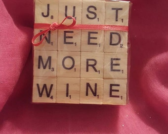 Set of 4 Scrabble Word Coasters
