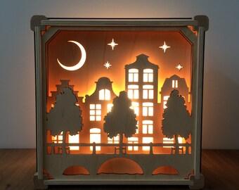 "Night Light ""Grachten Buildings"""