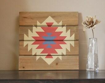 Southwestern / Navajo Inspired Wood Panel Art