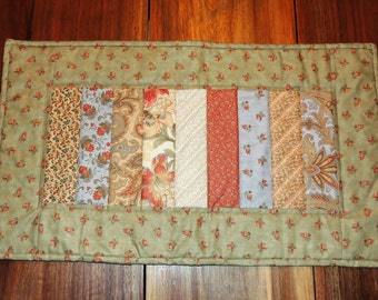 """Quilted Table runner, Fall Table Runner,  24.5"""" x 14.5"""""""