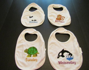 Days of the Week Bib Set