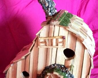 "Bird House ""Hilltop Clover by Sonoran Art, Handmade Sturdy & Sweet"