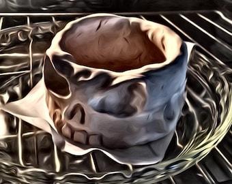 Skull shave soap bowl