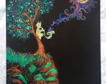PSYCHEDELIC TREE PAINTING