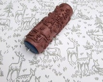 unique pattern paint roller related items etsy. Black Bedroom Furniture Sets. Home Design Ideas