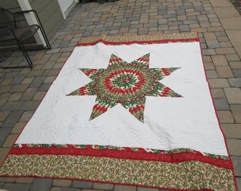 Lone Star Quilt Pattern Queen Size : Lone star quilt Etsy