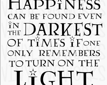 Happiness in Dark Harry Potter SVG File
