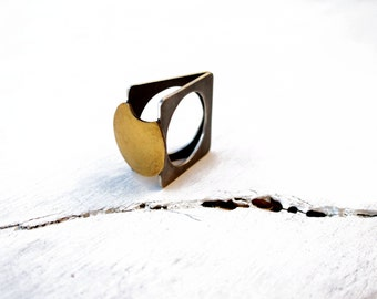 Silver ring. 24K gold ring. Kum boo ring. Eclipse ring.