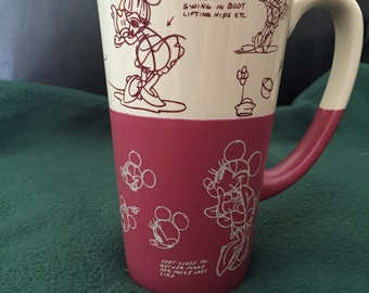 Vintage Disney Minnie Mouse Illustration Mug