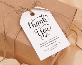 Thank You Tag, Gift Tags, Wedding Thank You Tags, Wedding Favor, Thank You Printable, Favor Tag, DiY Kraft Printable tags, WPC_30