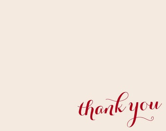 Personalized 4x5 Thank You Card w/envelopes | Set of 12