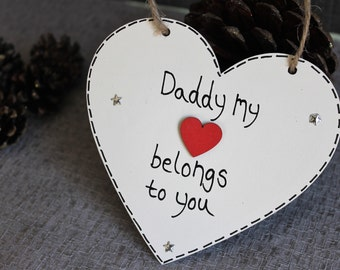 Daddy My First Love - Daddy sign - Personalised Daddy Plaque - daddy gift - Daddy Christmas Gift - Dad Gifts Plaque - new dad gift