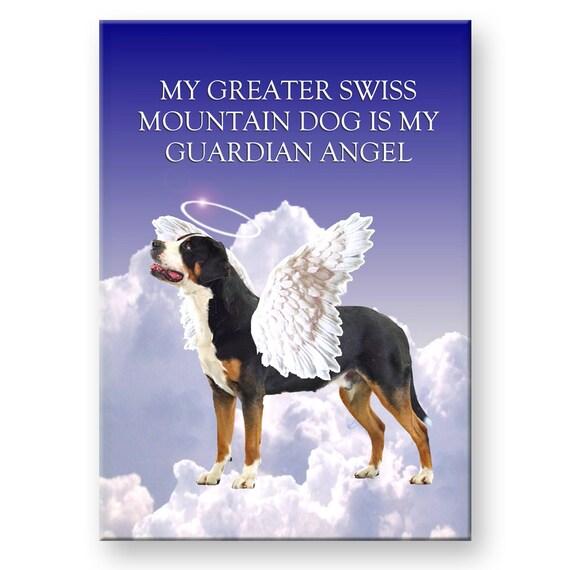 Greater Swiss Mountain Dog Guardian Angel Fridge Magnet