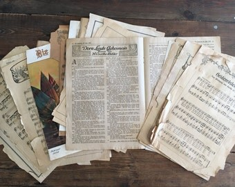 25 Vintage German Music Sheets