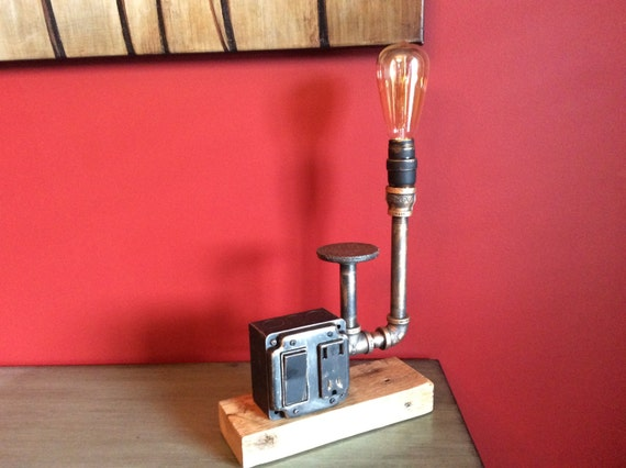 Items Similar To Steampunk Pipe Lamp With Usb Charging