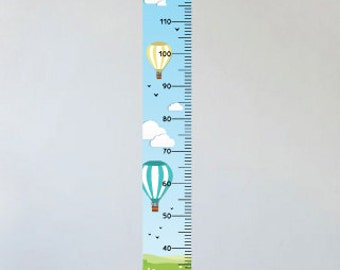 Charming Hot Air Balloon Personalized Height Chart Kit