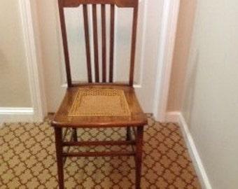 Vintage Cane Bottom wood chair