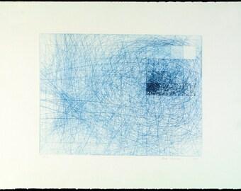 Untitled, 1978. Drypoint by Heidi KÜNZLER