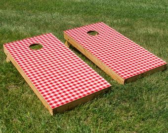 Picnic Table Cornhole Board Set