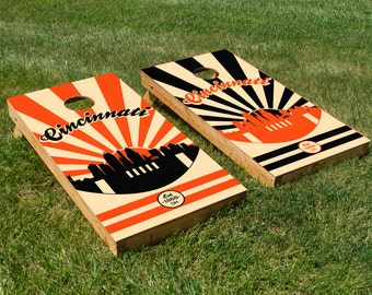 Cincinnati Football Cornhole Board Set