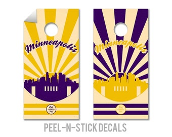 Minnesota Vikings Cornhole Board Decals