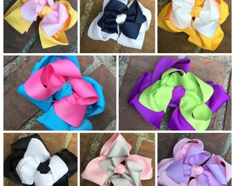 "Bundle! 4.5"" double layered hairbows"