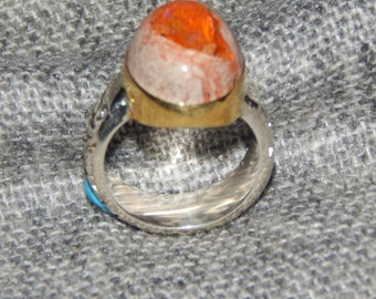 Mexican Opal and Silver Ring