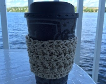 Crocheted coffee cozy