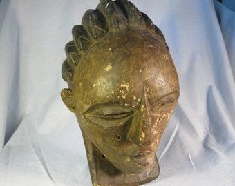 African tribal art madeleine mask-LUBA-DR CONGO