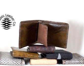 Hand crafted Hand made authentic sea snake skin wallet