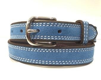 Sky Blue Suede Belt, Sky Blue Leather Belt,Sky Blue Belt, Blue Suede Belt, Blue Leather Belt, Blue Belt,Ladies Belt,Woman Belt, Fashion Belt