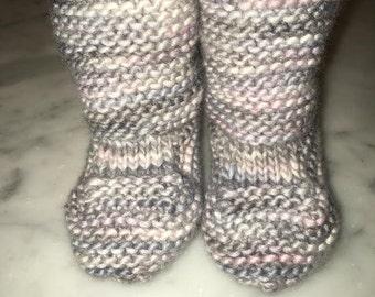 Merino Wool Fair Trade Rolled Cuff Baby Booties