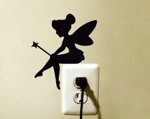 Tinker Bell Disney Light Switch Vinyl Decal Sticker Princess Tinkerbell Fairy