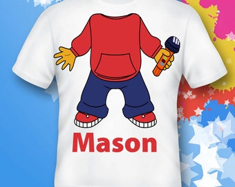 sid the science kid  Cotton Tee Shirts Personalized - Birthday T-Shirt Party Favor- costume science kid