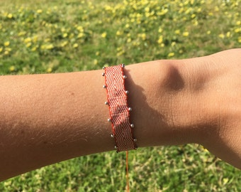 Handmade Woven bracelets with silver - Sol