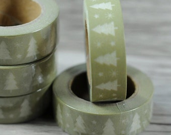 Christmas Tree Washi Tape, Planner Washi Tape, Scrapbooking Tape, Fun Tape, Green Tape, Pretty Tape, Holiday Tape, Washi Tape, DIY Project