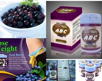 ABC Pure Acai Berry Slimming Body Weight Loss Fat Burner 30 Soft Gel @500 mg
