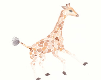 Nursery Painting - G is for Giraffe