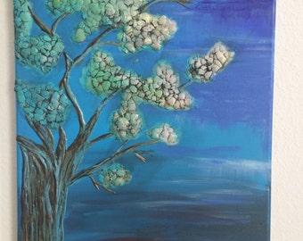 Acrylic painting mixed media