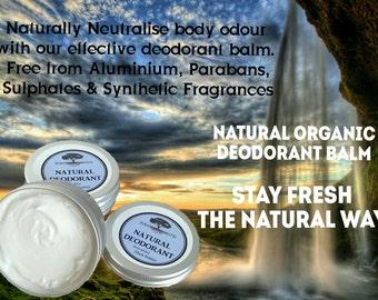 Natural Organic Deodorant Balm