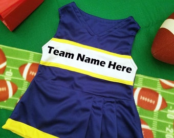 Girls cheerleader outfit (blue, white and yellow)