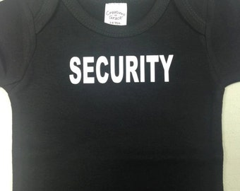 Custom Security Onesie
