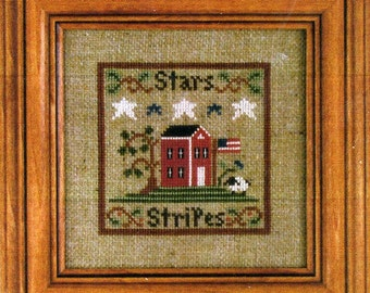 Stars and Stripes by Little House Needleworks Counted Cross Stitch Pattern/Chart