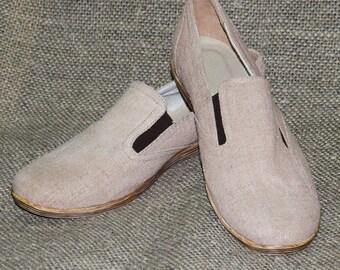 Hemp shoes for men. Made to Order HANDMADE Shoes. VEGAN shoes. Custom order hemp shoes.