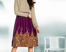 Flair Dress in Jacquard fabric. Fall season dress and colors. Thanksgiving outfit.