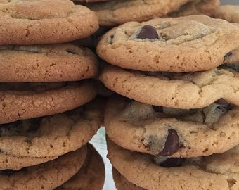 Healthy, sugarfree and low callories chocolate chipcookies