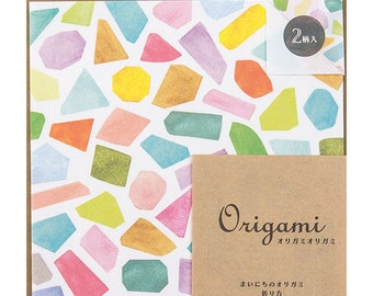 Gift wrapping, Origami paper sheets,  Midori Japan, Origami pack, Diamond Origami, Diamond paper
