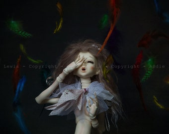 """Simple print A3 """"Pteronophobie"""" - photography, art collection print deco No. phobia Pullip doll BJD feathers"""